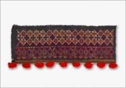 大武壠族女子頭巾繡片